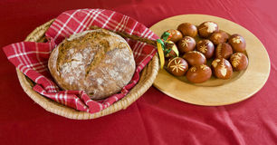 Osteier und Brot Stockfotografie