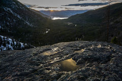 Osteinlass-Sonnenuntergang, Rocky Mountain National Park Stockfoto
