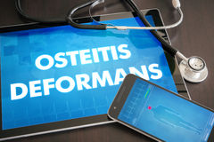 Osteitis deformans (endocrine disease) diagnosis medical concept Royalty Free Stock Images