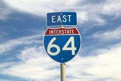Osten auf Weg zwischenstaatliche 64 Lizenzfreies Stockbild