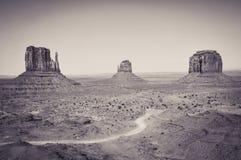 Osten- und Westhandschuh Buttes im Monument-Tal Stockfotografie