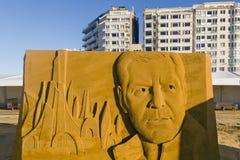 OSTEND, BELGIA o temacie piasków kasztele, zdjęcie royalty free