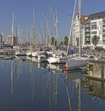 Ostend, Belgium. Yacht Bay in Ostend, Belgium Stock Image
