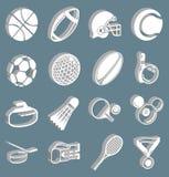 Ostenta ícones ilustração stock