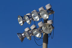 Ostenta luzes do estádio Imagem de Stock Royalty Free