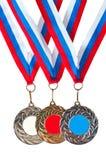 Ostenta medalhas Fotos de Stock Royalty Free