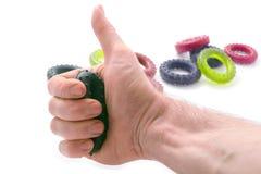 Ostenta o treinamento dos dedos de uma mão. Imagem de Stock