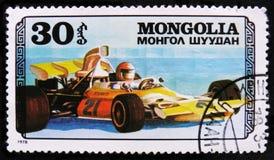 ostente o carro de competência, serie das corridas de carros, cerca de 1978 Imagem de Stock