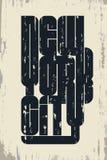 Ostente o emblema da tipografia do desgaste, gráficos do selo do t-shirt Fotografia de Stock Royalty Free