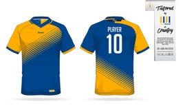 Ostente o t-shirt ou o molde do jérsei de futebol para o clube de esporte Zombaria da camisa do Sportswear acima Imagem de Stock