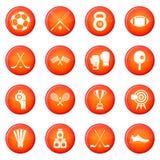 Ostente os ícones ajustados ilustração stock