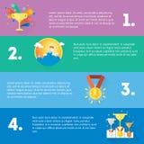 Ostente um plano do conceito do vencedor de quatro bandeiras gorizontal do gym, alimento saudável, medidor Imagem de Stock Royalty Free