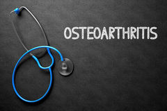 Osteoarthritis Concept on Chalkboard. 3D Illustration. Royalty Free Stock Image