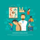 Osteopathy Design Concept Stock Photos