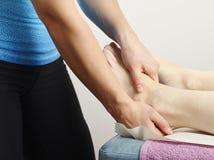Osteopathy treatment Stock Image