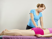 Osteopathy treatment Stock Images