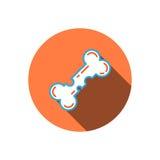 Osteoporosis icon bone. Vector flat dice icon isolated on white background symbolizing osteoporosis Royalty Free Stock Image