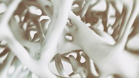 Osteoporosis -look into the bone - 3d rendering. Osteoporosis -look into the bone -- 3d rendering Stock Photography