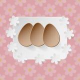 Osterei auf Blumenvektorhintergrund Stockbild