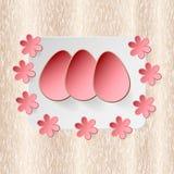 Osterei auf Blumenvektorhintergrund Lizenzfreie Stockfotos