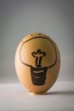 Osterei, Birnenzeichnung im Ei Stockfoto