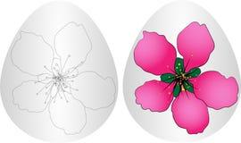 Osterei-Blumenhintergrund Stockfoto