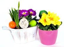 Osterei-Blumenvorbereitungen Lizenzfreie Stockbilder
