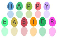Osterei für Ostern-Feiertag mit weißem Isolat Stockfotos
