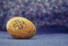 Osterei gemalt im schönen ethnischen Muster Alt, traditionell handcraft Design lizenzfreie stockfotografie