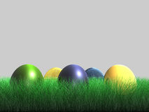 Osterei - Gras - 3D Lizenzfreie Stockfotografie