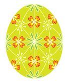 Osterei mit einem gemalten Muster, 48 Keile Das Symbol von Ostern r Auch im corel abgehobenen Betrag vektor abbildung