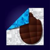 Ostereischokolade und -verpackung Lizenzfreies Stockbild