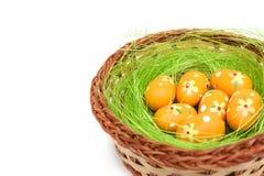 Osterei-Nest Stockfoto