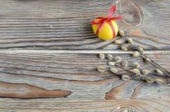 Osterei und Weide Stockbild