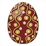 Osterei verziert mit Gänseblümchen Stockfotografie