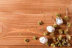 Ostereier auf dem Tisch Stockfotografie