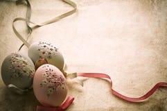 Ostereier in der alten Art Stockfoto