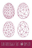 Ostereier eingestellt mit Muster Auch im corel abgehobenen Betrag Lizenzfreie Stockbilder