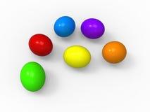 Ostereier, Farbensatzansammlung stock abbildung