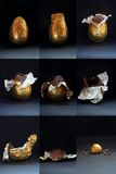 Ostereier - gegessen Lizenzfreies Stockbild
