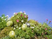 Ostereier im Gras Lizenzfreie Stockfotografie