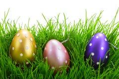 Ostereier im Gras Lizenzfreies Stockfoto