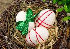 Ostereier im Nest. Lizenzfreie Stockfotografie