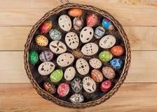 Ostereier im Nest Stockbild