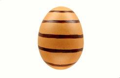 Ostereier lokalisiert auf weißem Hintergrund für glücklichen Ostern-Tag des Designs Stockfotografie