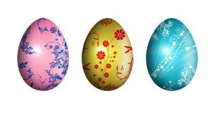 Ostereier mit Blumenverzierung - Abbildung Lizenzfreie Stockbilder