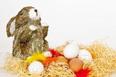 Ostereier mit Häschen Stockbilder
