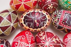 Ostereier mit traditionellem Muster Lizenzfreie Stockfotografie