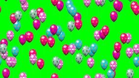 Ostereier steigt erzeugtes nahtloses Schleifenvideogrün im Ballon auf lizenzfreie abbildung