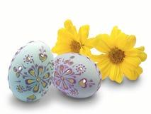 Ostereier und Blumen Lizenzfreies Stockbild
